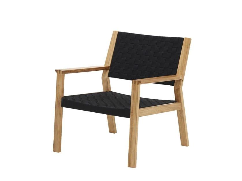 Garden armchair with armrests MAZE | Garden armchair by Gloster