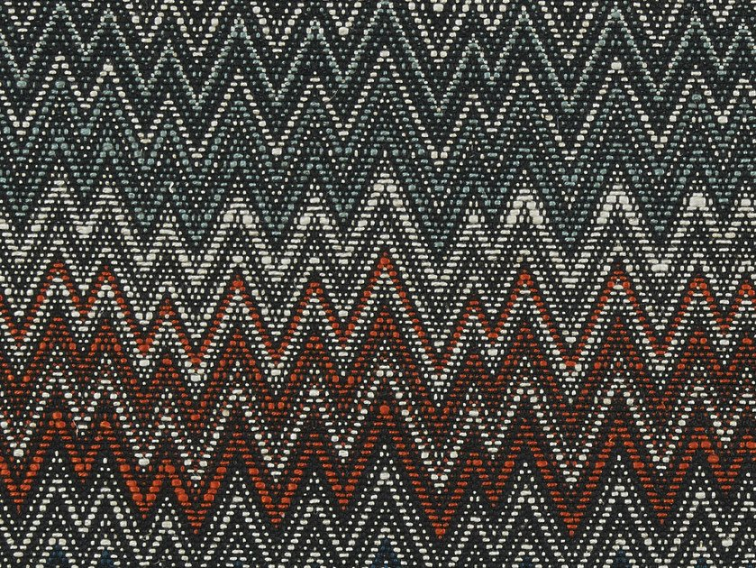 Fabric with graphic pattern ZIG ZAG by Aldeco