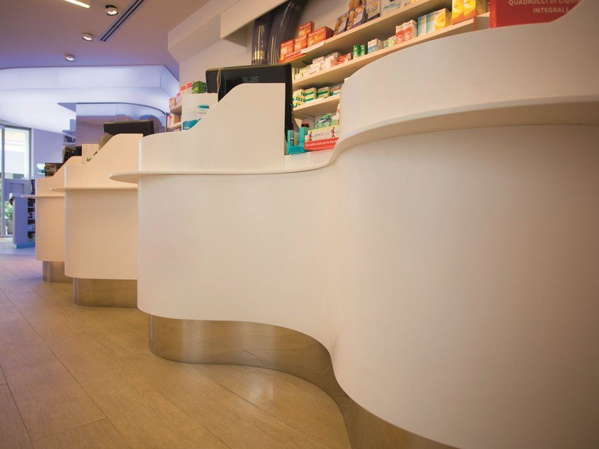 Solid Surface® Shop furnishing GETACORE® | Shop furnishing by GetaCore