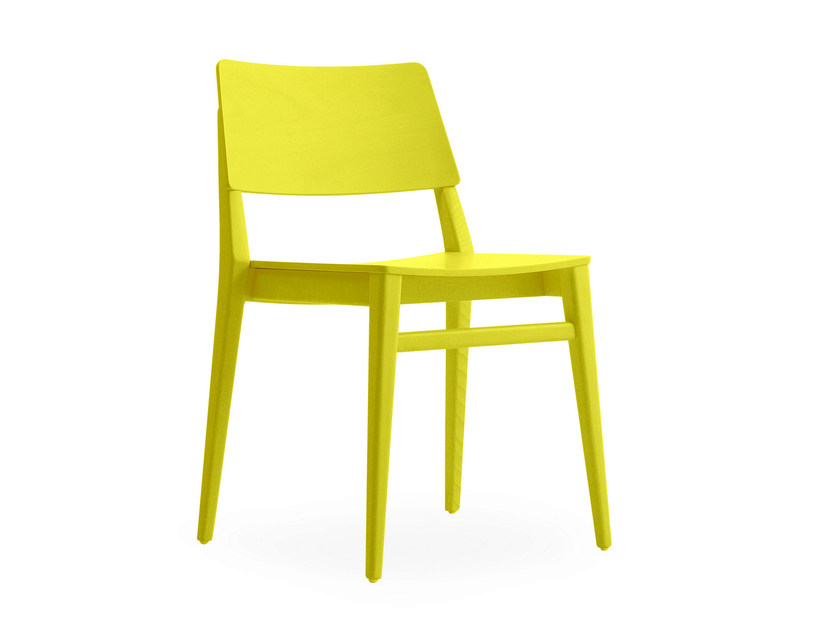 Stackable lacquered chair TAKE | Lacquered chair by BILLIANI