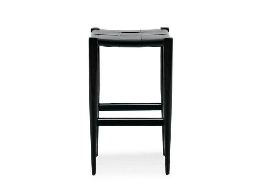 High leather stool VINCENT V. G. | High stool by BILLIANI