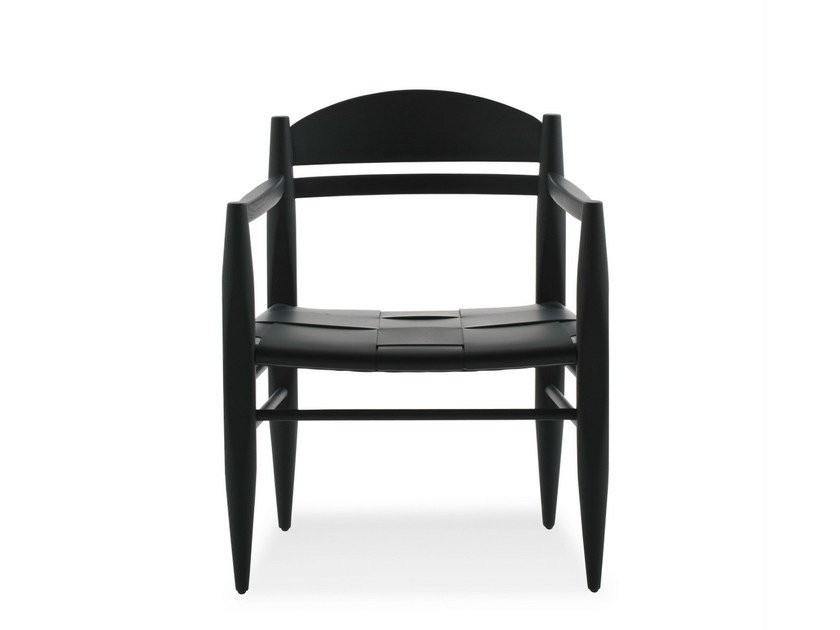 Leather easy chair with armrests VINCENT V. G. | Easy chair by BILLIANI