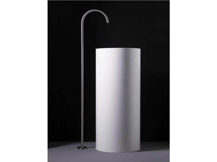 Floor standing stainless steel washbasin tap WINGS   Floor standing washbasin tap by Boffi