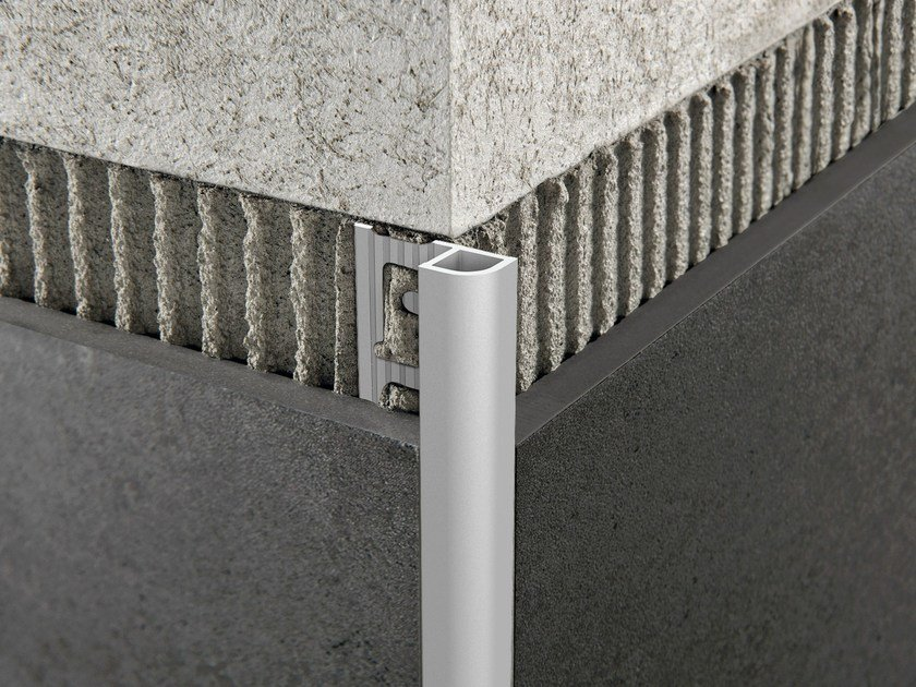 Brushed steel edge profile for walls PROJOLLY QUART by PROGRESS PROFILES