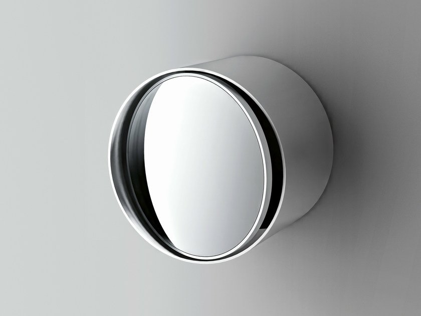 Round wall-mounted shaving mirror INDEX by Boffi