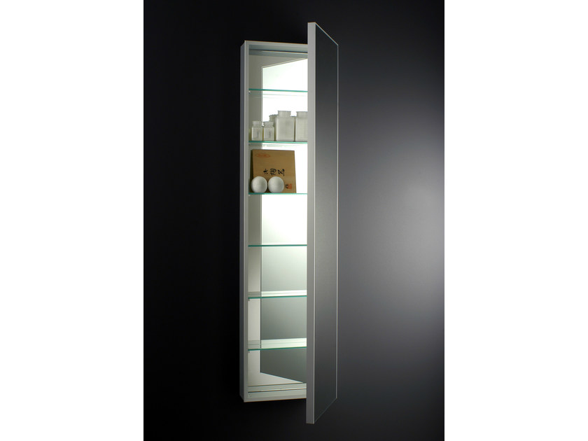 Wall-mounted mirror with cabinet SQUARE by Boffi