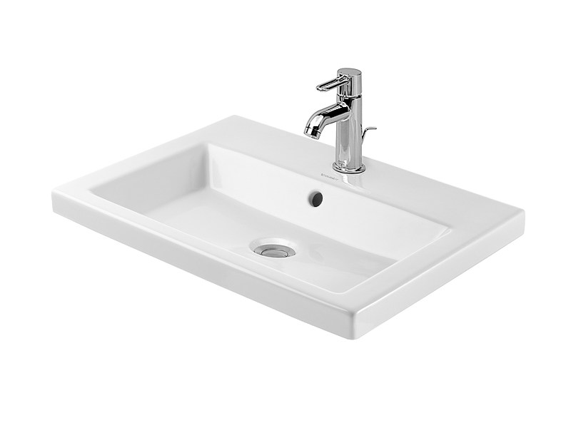Inset ceramic washbasin 2ND FLOOR | Inset washbasin by Duravit