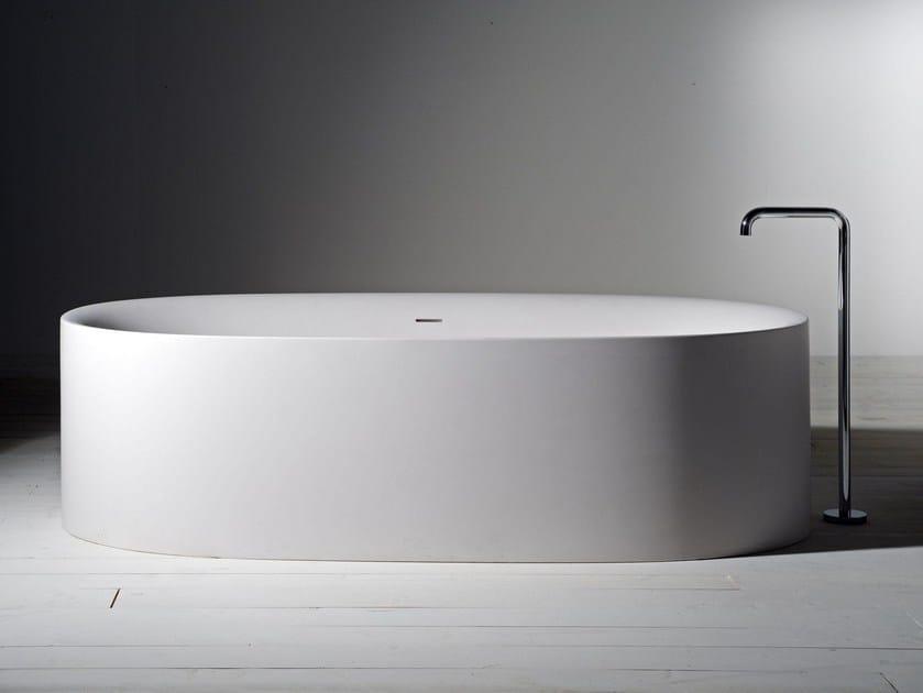 Freestanding Cristalplant® bathtub SABBIA   Bathtub by Boffi