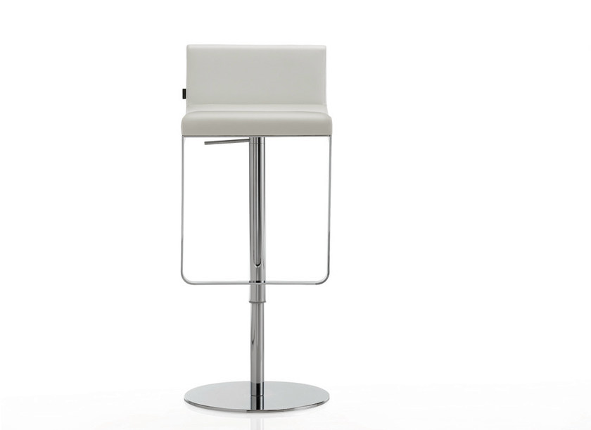 Height-adjustable stool with footrest INKA STEEL A 300 ST BG by BILLIANI