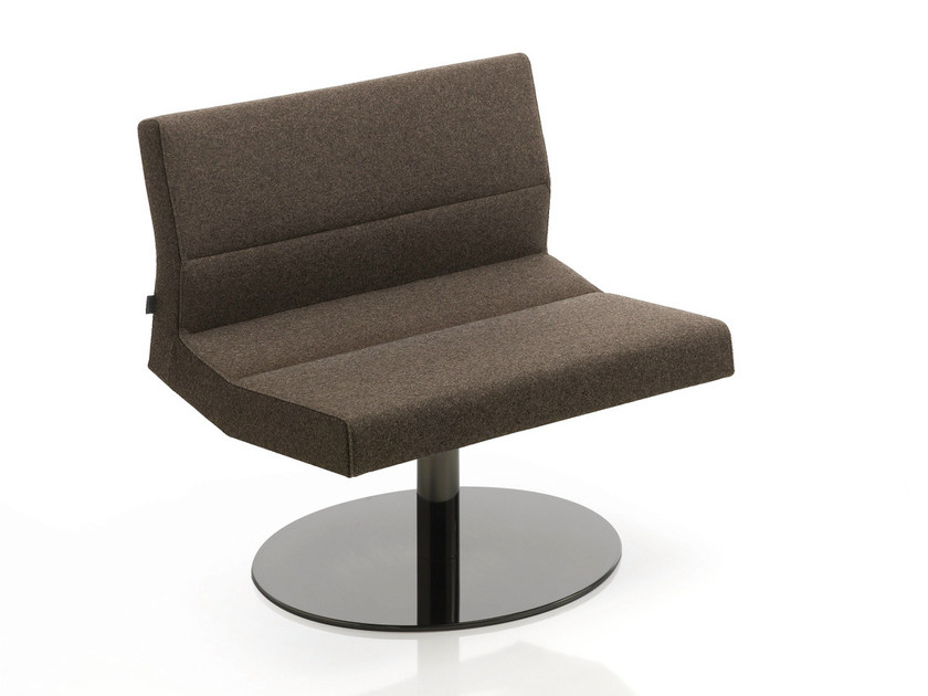 Swivel upholstered fabric easy chair INKA STEEL L 100 ST BG by BILLIANI