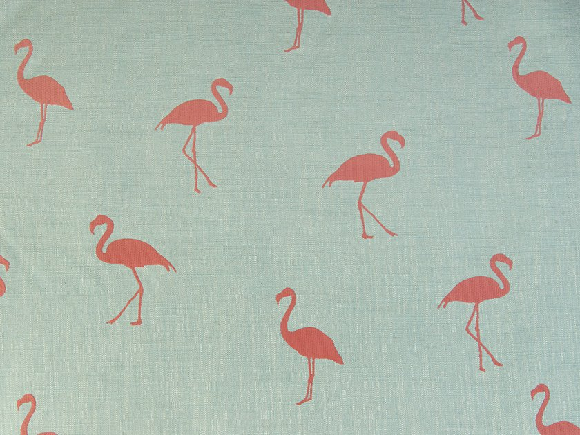 Upholstery fabric with graphic pattern FLAMINGO by Aldeco