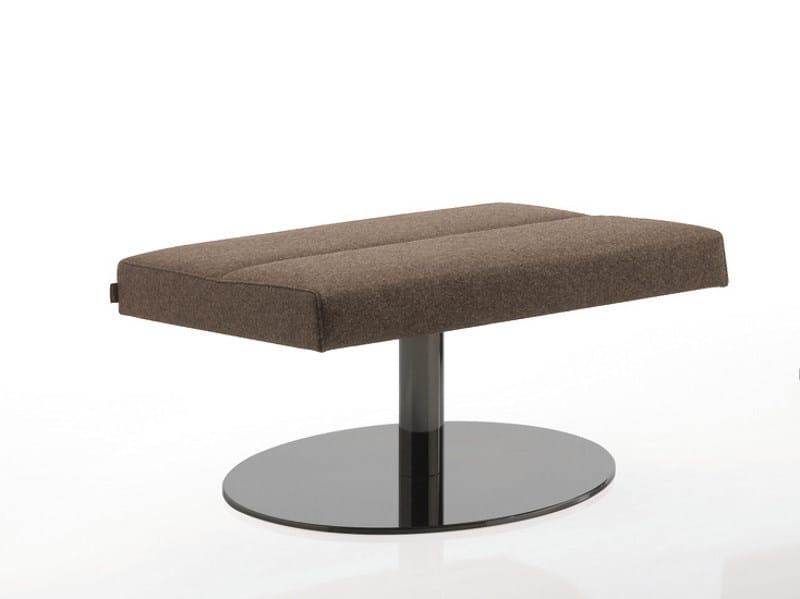 Swivel upholstered fabric stool INKA STEEL S 50 ST B by BILLIANI