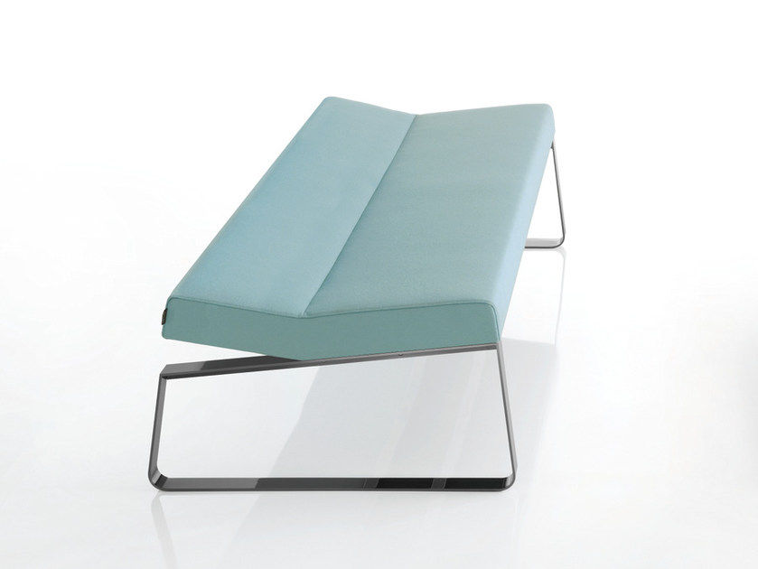 Upholstered fabric bench INKA STEEL L 100 ST P by BILLIANI