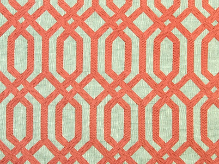 Upholstery fabric with graphic pattern TRELLIS ADDICTION by Aldeco