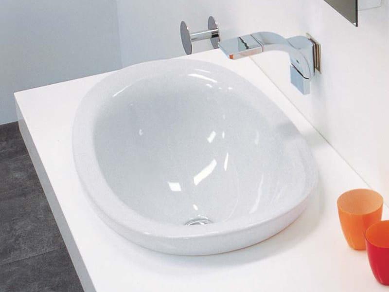 Lavabo da incasso soprapiano in ceramica io lavabo da incasso soprapiano ceramica flaminia - Lavabi bagno da incasso ...