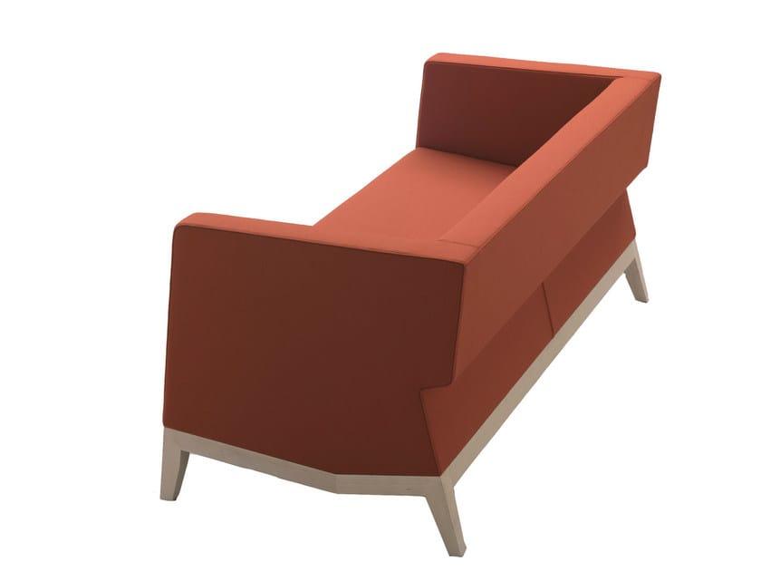 Fabric sofa INKA WOOD D 200 D by BILLIANI