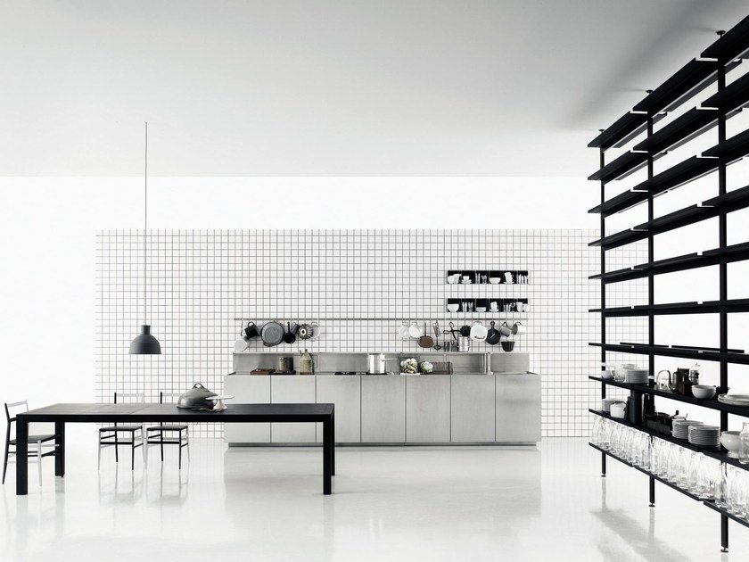 Linear stainless steel kitchen K20 by Boffi