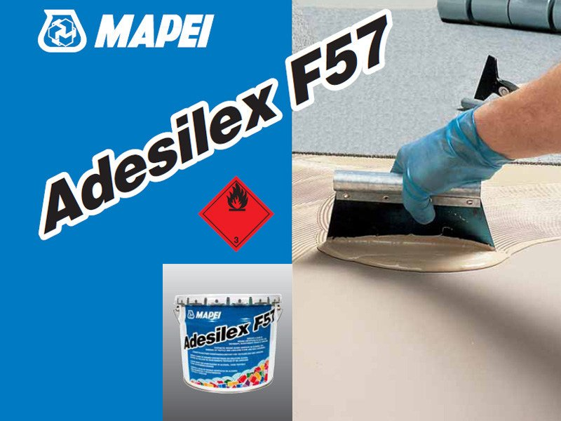 Adhesive for flooring ADESILEX F57 by MAPEI