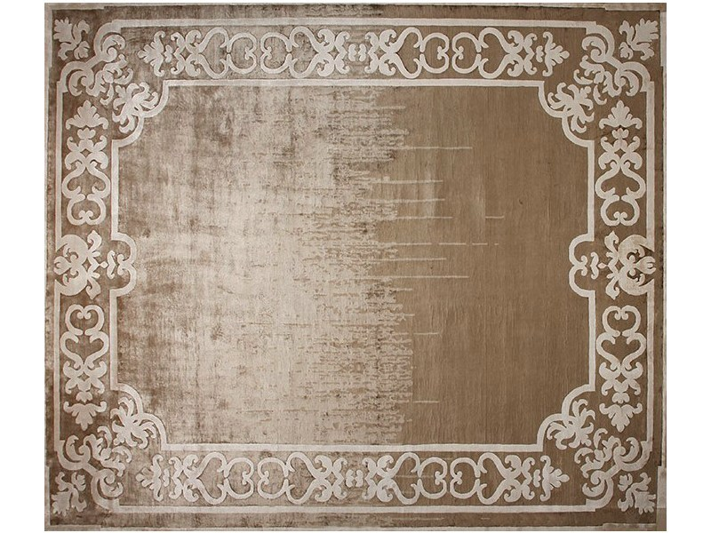 Handmade rectangular rug MARQUISE SHADOW TOBACO by EDITION BOUGAINVILLE