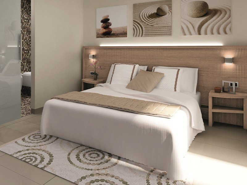 Double bed with high headboard FASHION | Hotel bed by Mobilspazio