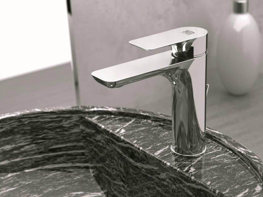 Single handle washbasin mixer without waste INFINITY   Washbasin mixer without waste by Remer Rubinetterie