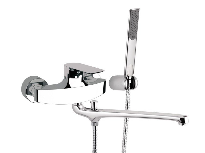 2 hole bathtub mixer with hand shower INFINITY | Bathtub mixer with hand shower by Remer Rubinetterie