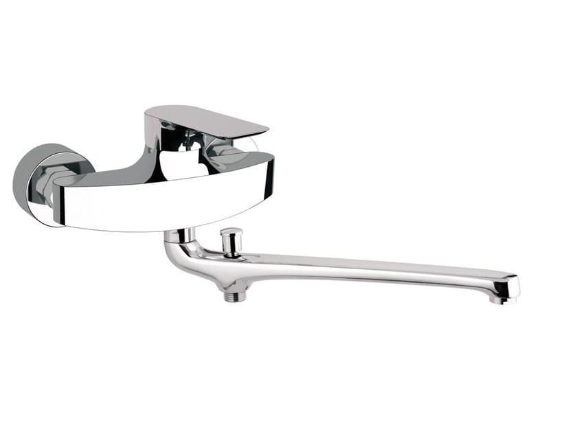 Single handle bathtub mixer with diverter INFINITY | Bathtub mixer with diverter by Remer Rubinetterie