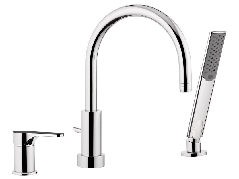 Bathtub set with diverter with hand shower INFINITY | Bathtub set by Remer Rubinetterie