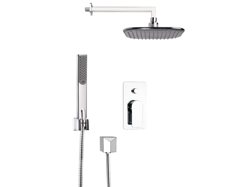 Shower mixer with diverter with hand shower with overhead shower INFINITY by Remer Rubinetterie