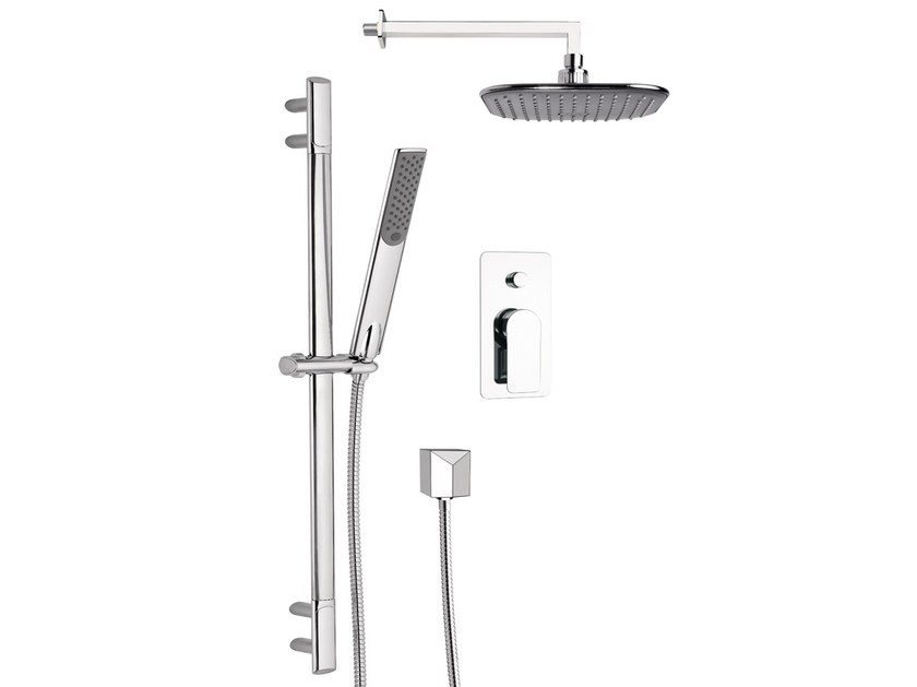 Shower wallbar with diverter with hand shower with hose INFINITY by Remer Rubinetterie