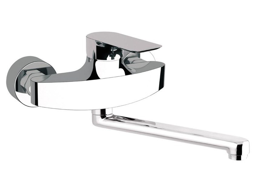 Wall-mounted kitchen mixer tap with swivel spout INFINITY | Kitchen mixer tap by Remer Rubinetterie