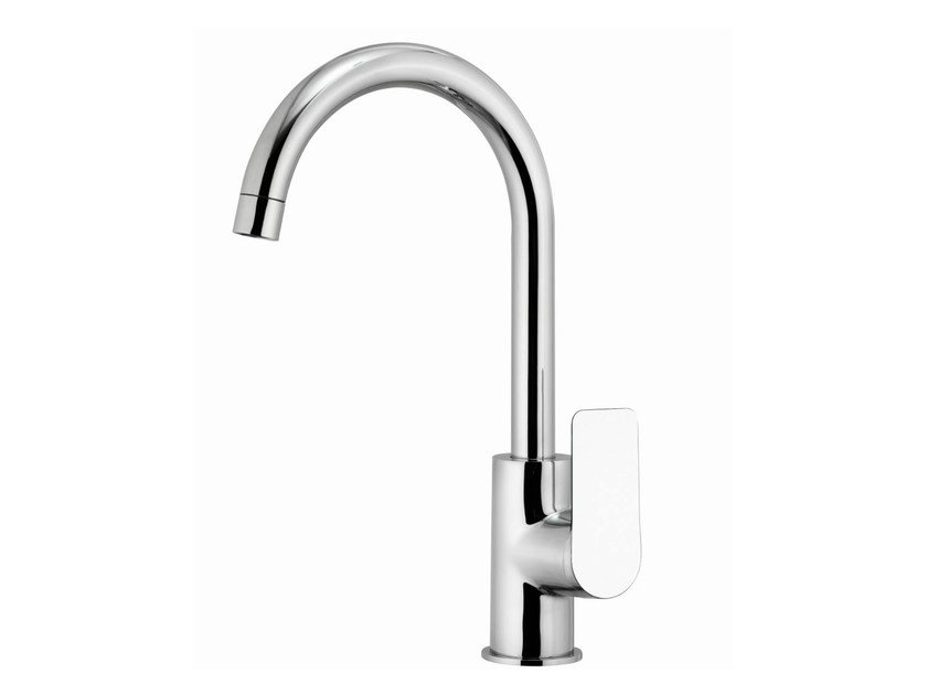 1 hole kitchen mixer tap with swivel spout INFINITY | Kitchen mixer tap with swivel spout by Remer Rubinetterie