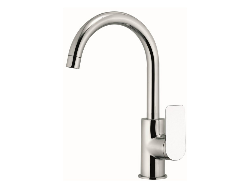 1 hole kitchen mixer tap with swivel spout INFINITY | 1 hole kitchen mixer tap by Remer Rubinetterie