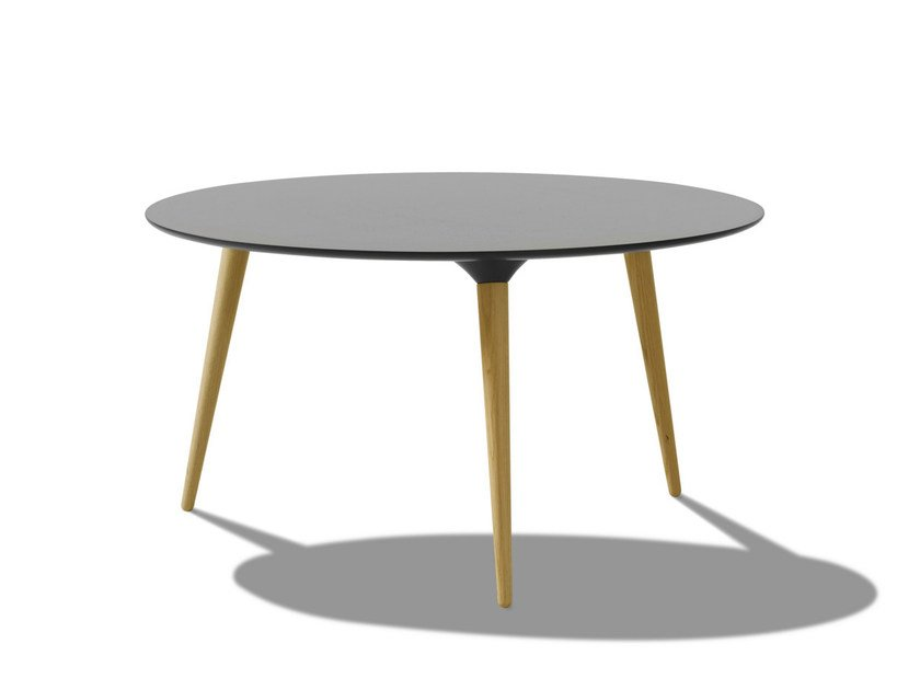 Lacquered round wooden coffee table ICICLE | Round coffee table by FREDERICIA FURNITURE