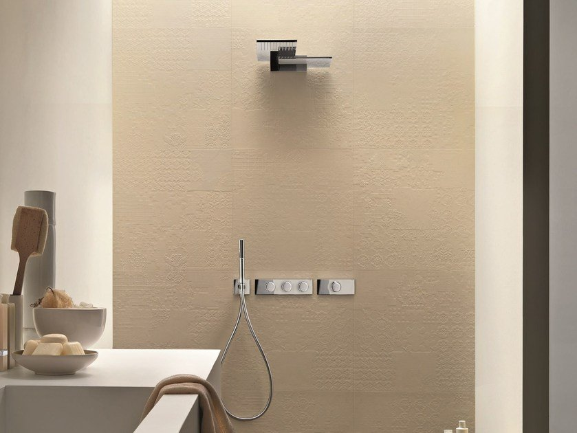Thermostatic shower mixer with plate MILANO - D213A/7313B by Fantini Rubinetti