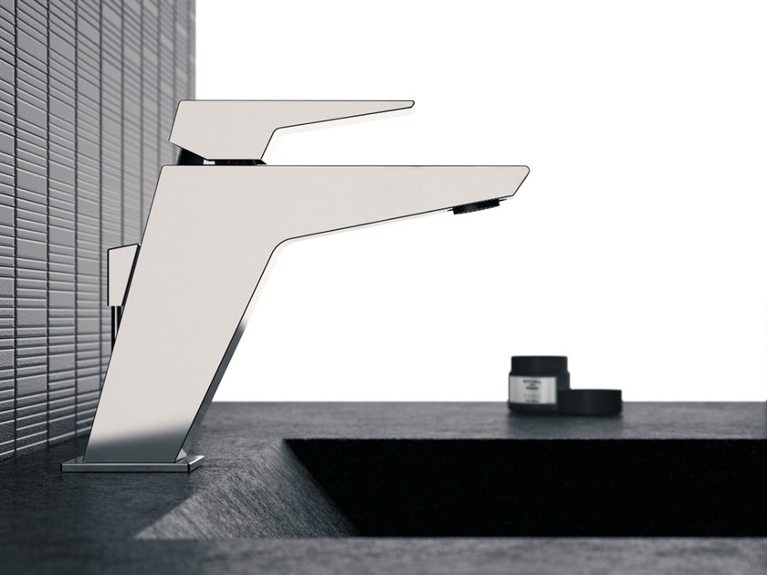 Single-lever basin mixer without pop-up waste SPEED | Washbasin mixer by Daniel Rubinetterie