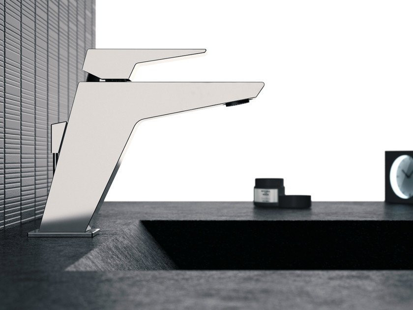 Single-lever basin mixer with pop-up waste SPEED | Single handle washbasin mixer by Daniel Rubinetterie