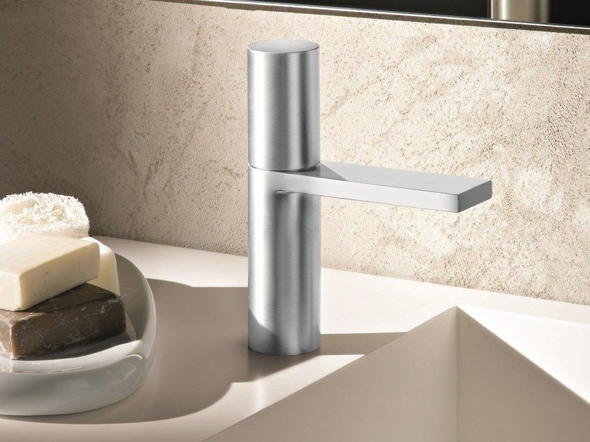 Countertop single handle stainless steel washbasin mixer MILANO - 3004 by Fantini Rubinetti