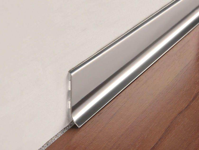 Glossy steel Skirting board SKIRTING 40 by PROGRESS PROFILES