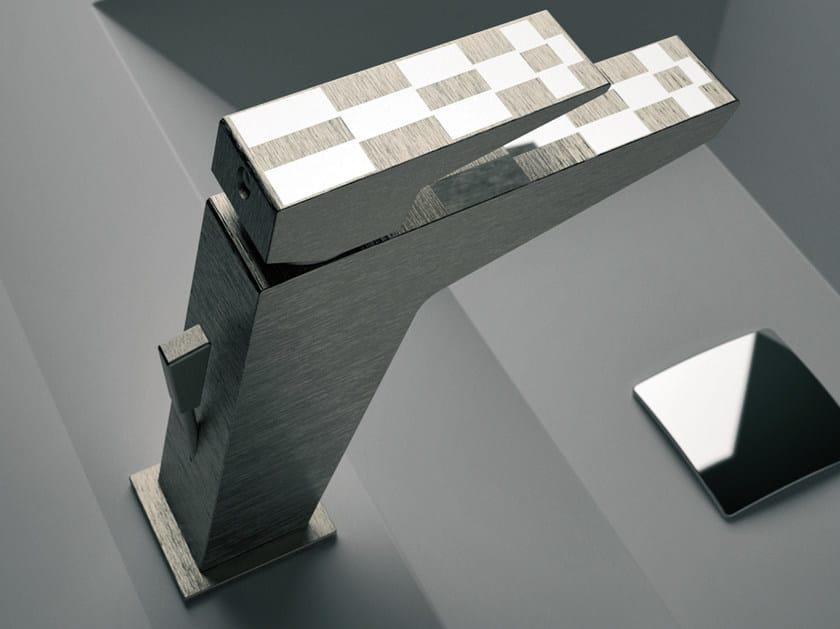 Single-lever basin mixer with pop-up waste SPEED DEKORA   Washbasin mixer by Daniel Rubinetterie