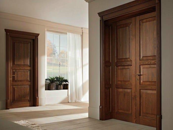 Porta a battente in legno massello 110 E LODE | Porta in castagno ...