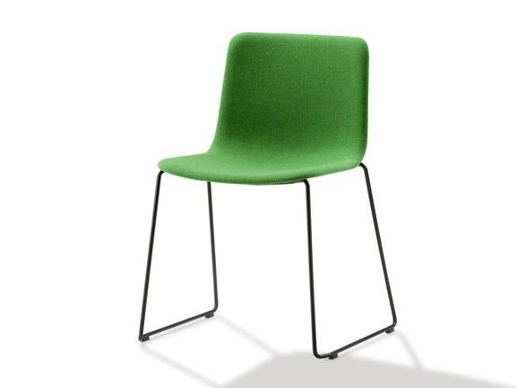 Sled base upholstered training chair PATO | Training chair by FREDERICIA FURNITURE