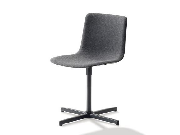 Upholstered fabric chair with 4-spoke base PATO | Fabric chair by FREDERICIA FURNITURE
