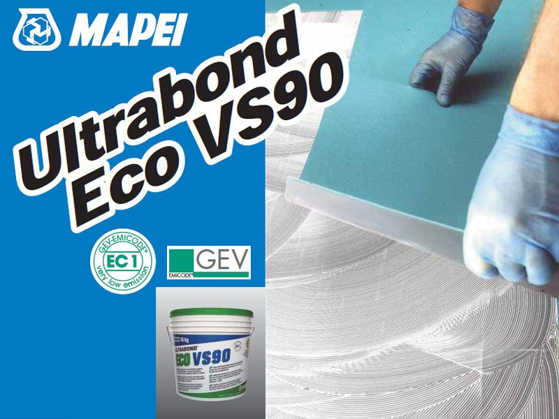 Adhesive for flooring ULTRABOND ECO VS90 by MAPEI