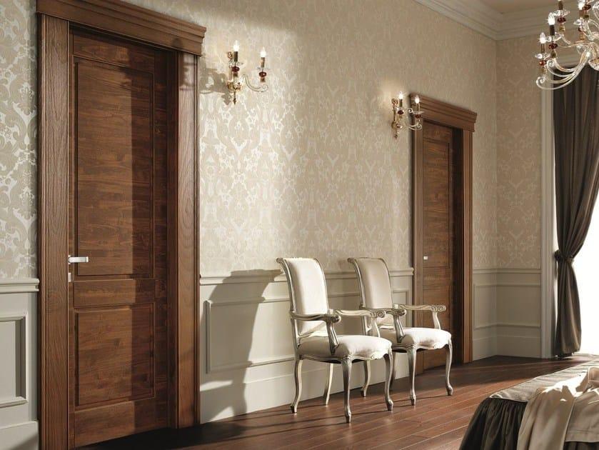 Hinged solid wood door ARCA | Chestnut door by GAROFOLI