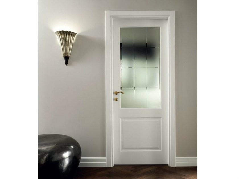 Hinged satin glass door MIRABILIA | Satin glass door by GAROFOLI