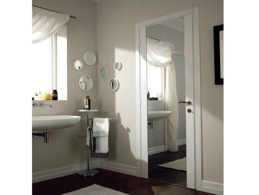 Porta a battente in vetro a specchio mirabilia porta in vetro a specchio garofoli - Specchio da porta ...