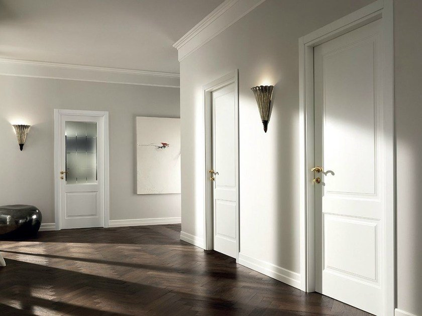 Hinged lacquered solid wood door MIRABILIA | Hinged door by GAROFOLI