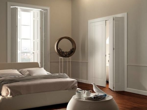 Folding lacquered solid wood door MIRAQUADRA | Folding door by GAROFOLI