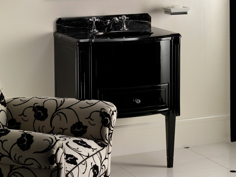Single vanity unit with drawers DOMINO by Devon&Devon